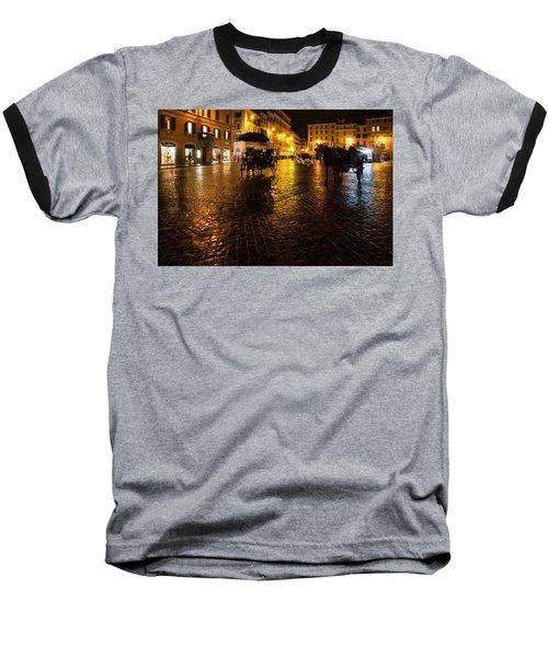 Baseball T-Shirt featuring the photograph Rain Chased The Tourists Away... by Georgia Mizuleva