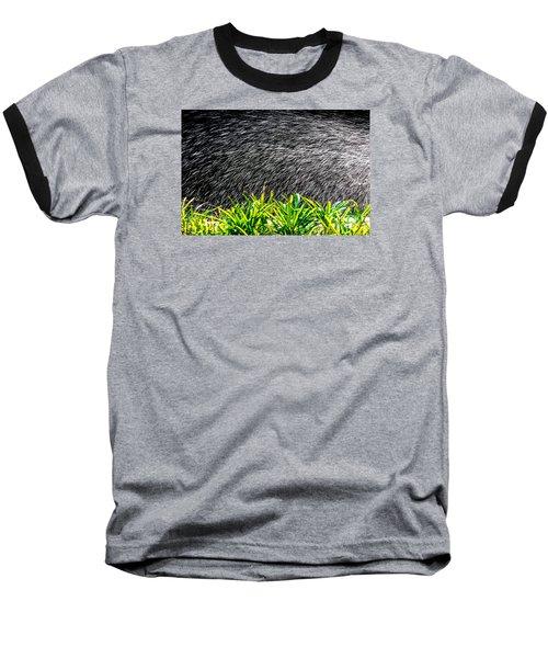 Baseball T-Shirt featuring the photograph Rain In The Garden by Edgar Laureano