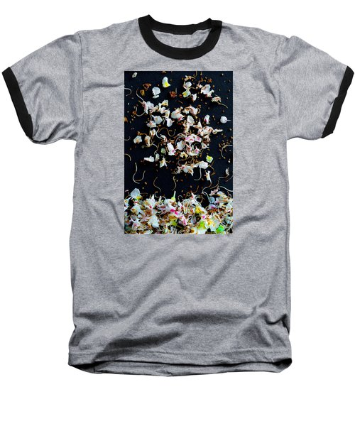Rain Of Petals Baseball T-Shirt by Edgar Laureano
