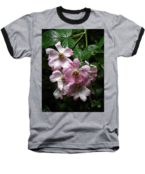 Rain Soaked Rose Baseball T-Shirt