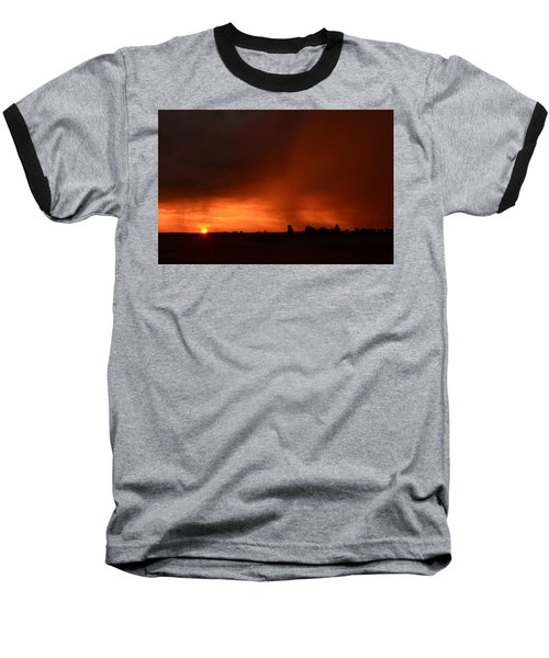 Rain Squall Sunrise Baseball T-Shirt
