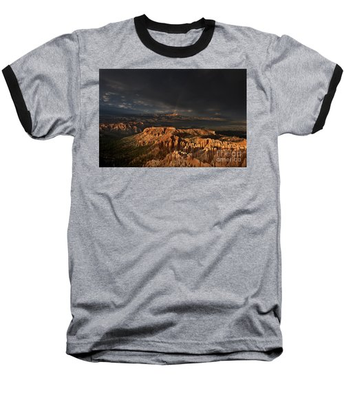 Baseball T-Shirt featuring the photograph Rainbow And Thunderstorm Over The Paunsaugunt Plateau  by Dave Welling
