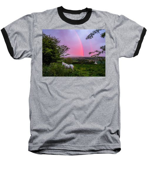 Rainbow At Sunset In County Clare Baseball T-Shirt