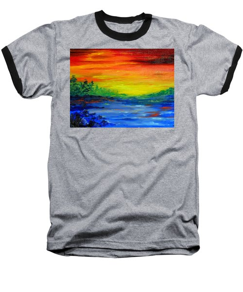 Rainbow Back Waters Baseball T-Shirt