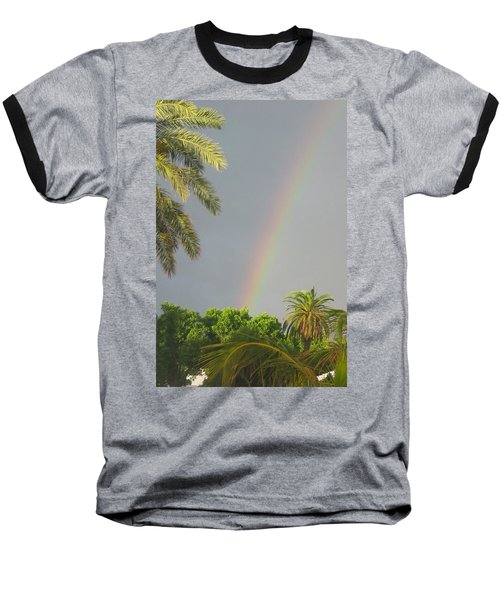 Baseball T-Shirt featuring the photograph Rainbow Bermuda by Photographic Arts And Design Studio