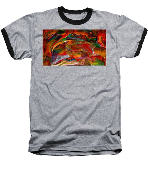 Rainbow Blossom Baseball T-Shirt