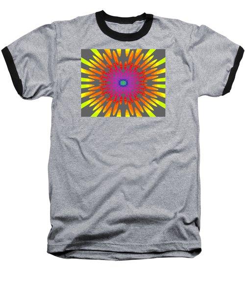 Rainbow Daisy Mandala  C2014  Baseball T-Shirt
