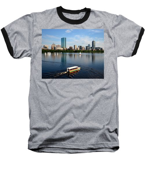 Rainbow Duck Boat On The Charles Baseball T-Shirt
