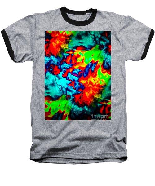 Rainbow Dye Baseball T-Shirt