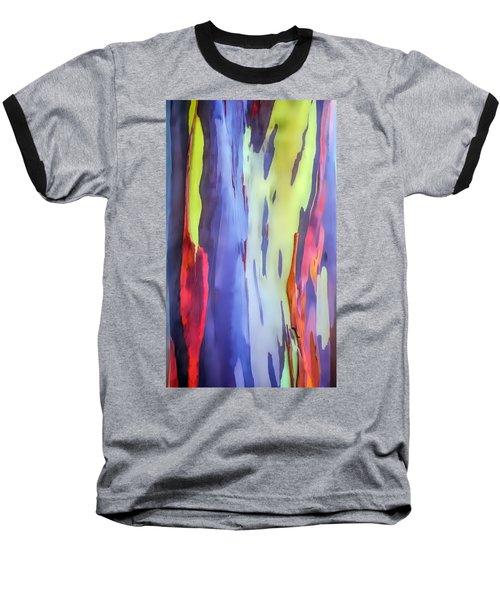 Rainbow Eucalyptus 2 Baseball T-Shirt by Dawn Eshelman