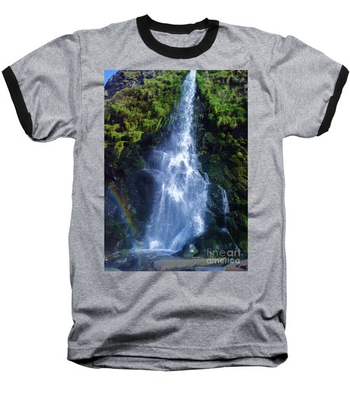 Baseball T-Shirt featuring the photograph Rainbow Falls by John Williams