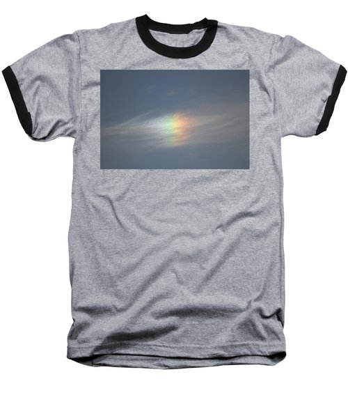 Baseball T-Shirt featuring the photograph Rainbow In The Clouds by Eti Reid