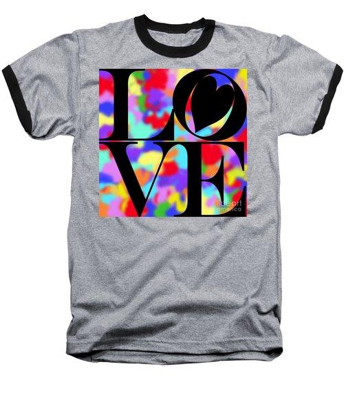 Rainbow Love In Black Baseball T-Shirt