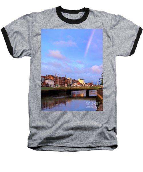 Rainbow Over Cork Baseball T-Shirt