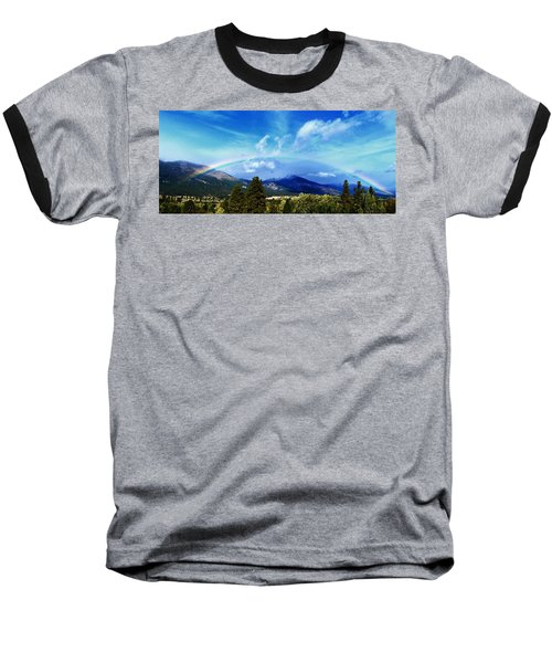 Rainbow Over Hamilton Montana Baseball T-Shirt