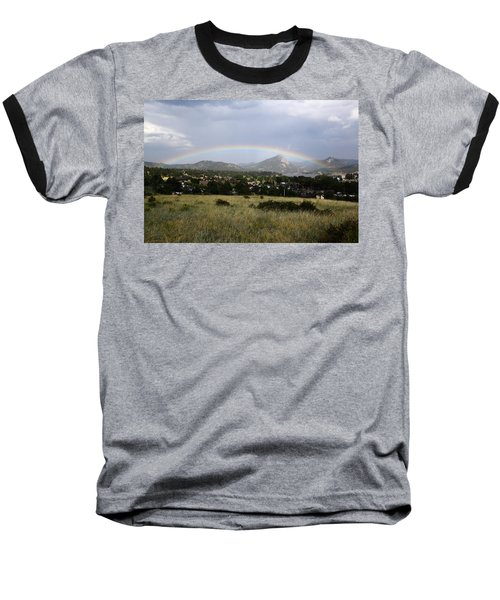 Rainbow Over Lake Estes Baseball T-Shirt