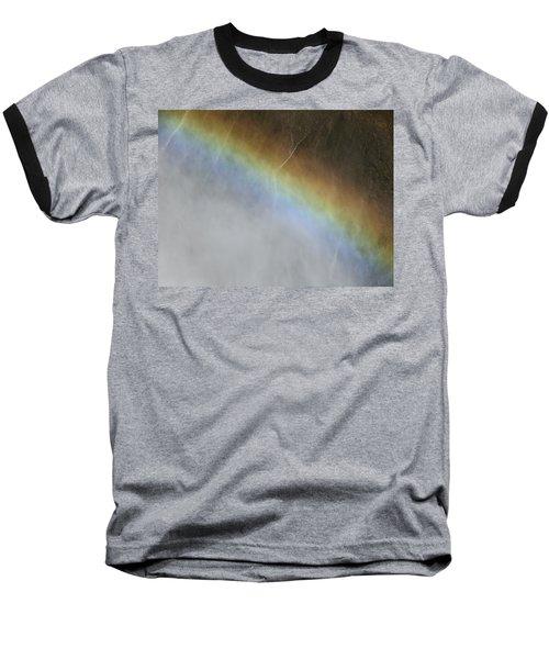 Rainbow Over The Falls Baseball T-Shirt by Laurel Powell