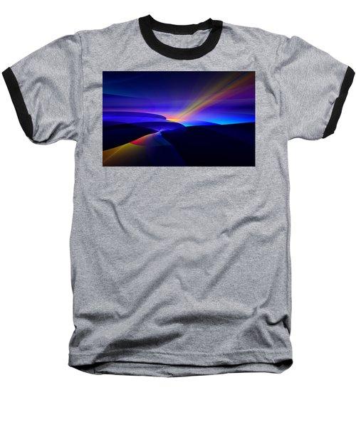 Baseball T-Shirt featuring the digital art Rainbow Pathway by GJ Blackman
