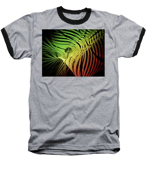 Rainbow Ribs Baseball T-Shirt by Richard J Cassato