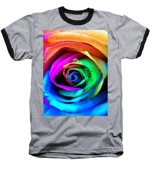 Rainbow Rose Baseball T-Shirt