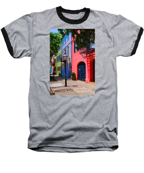 Rainbow Row Charleston Baseball T-Shirt