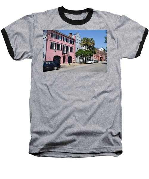 Rainbow Row  Baseball T-Shirt