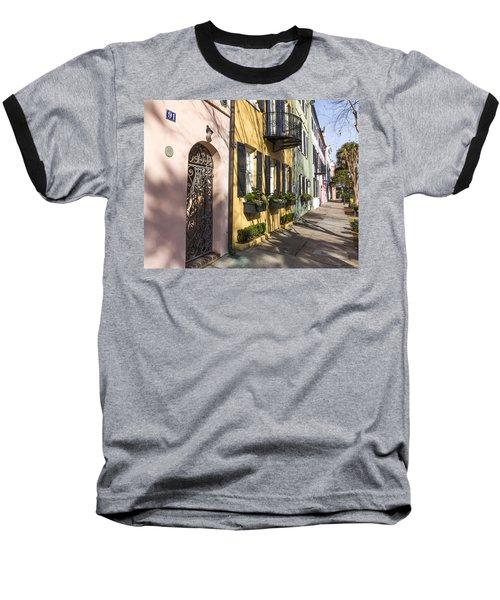 Rainbow Row Baseball T-Shirt