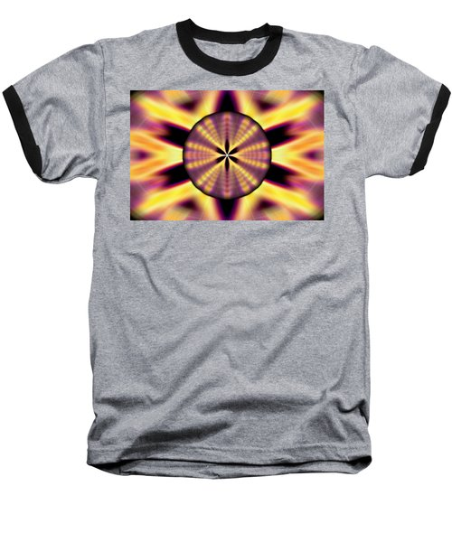 Baseball T-Shirt featuring the drawing Rainbow Seed Of Life by Derek Gedney
