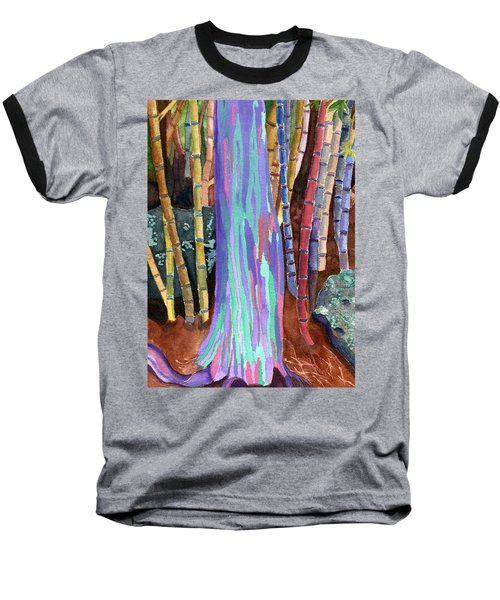 Baseball T-Shirt featuring the painting Rainbow Tree by Lynne Reichhart