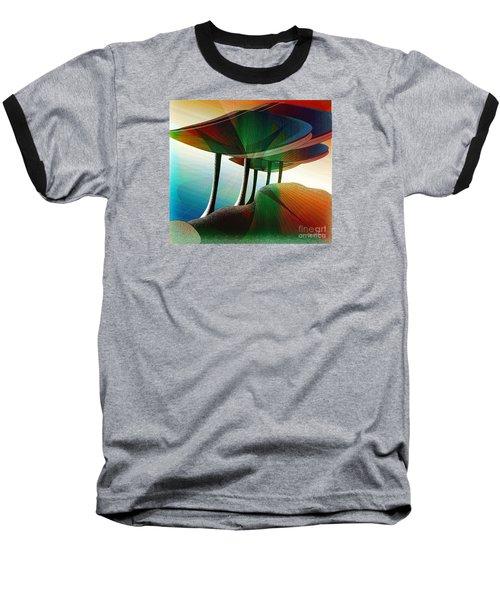 Rainbow Trees Baseball T-Shirt