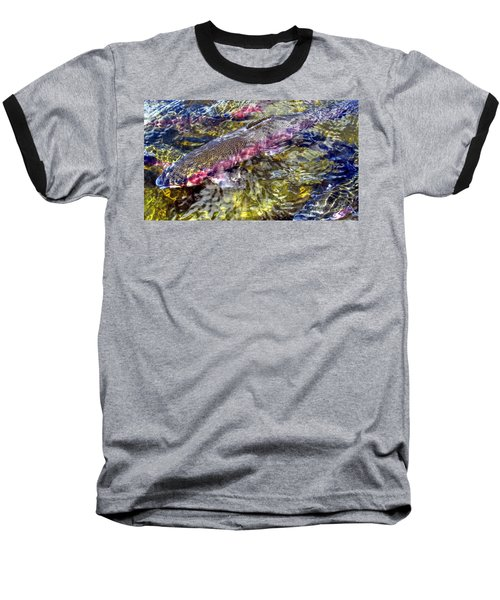 Rainbow Trout Baseball T-Shirt
