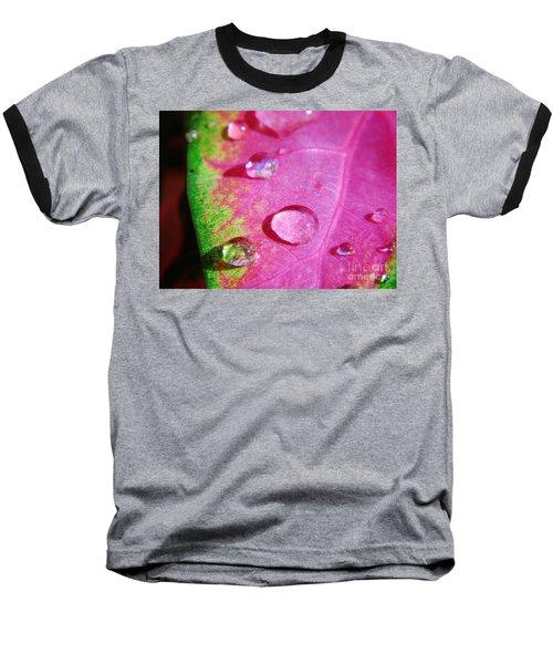 Raindrop On The Leaf Baseball T-Shirt