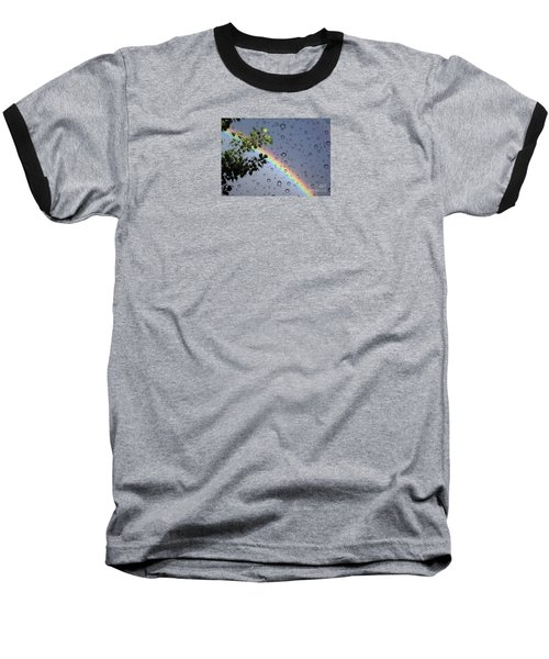 Baseball T-Shirt featuring the photograph Raindrops by Janice Westerberg