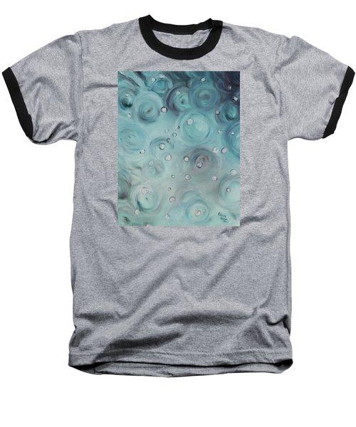 Raindrops Baseball T-Shirt by Patricia Olson