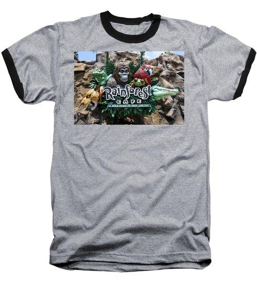 Rainforest Baseball T-Shirt by David Nicholls