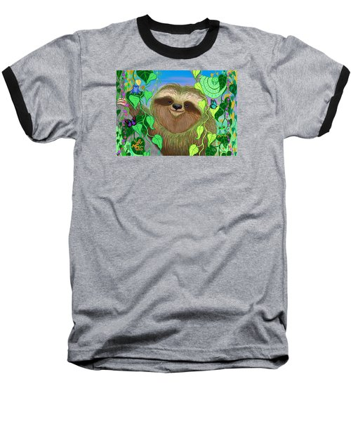 Rainforest Sloth Baseball T-Shirt