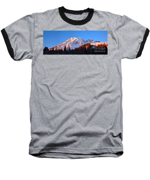 Rainier Sunset Baseball T-Shirt