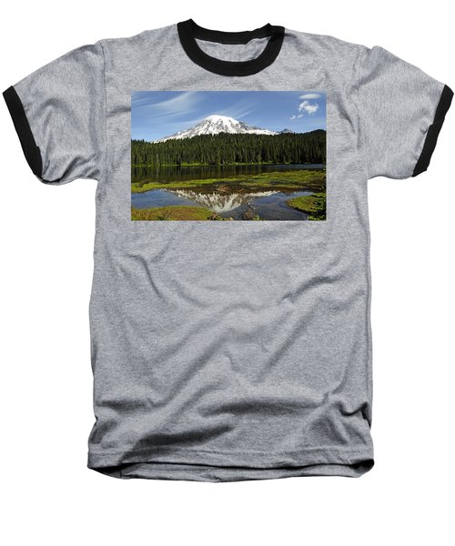 Baseball T-Shirt featuring the photograph Rainier's Reflection by Tikvah's Hope
