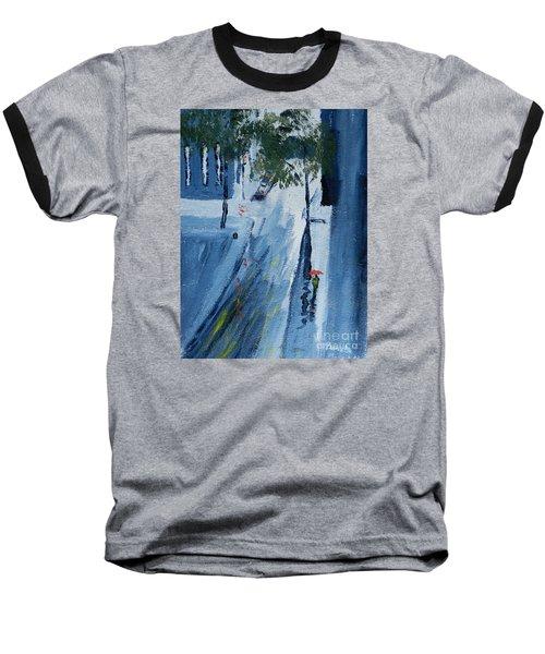 Raining Again Baseball T-Shirt by Pamela  Meredith