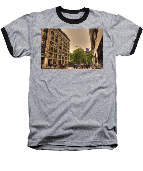 Raining At Nyu Baseball T-Shirt by David Bearden