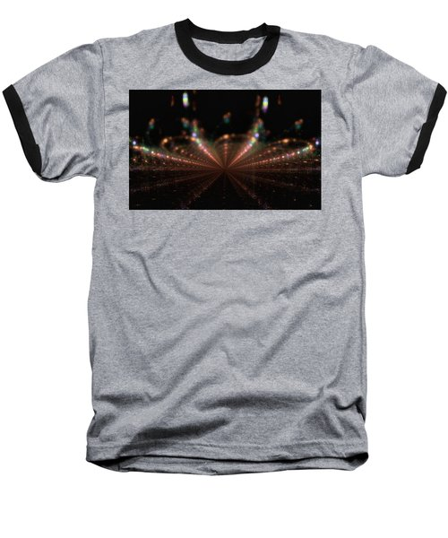 Rainy City Night Baseball T-Shirt by GJ Blackman