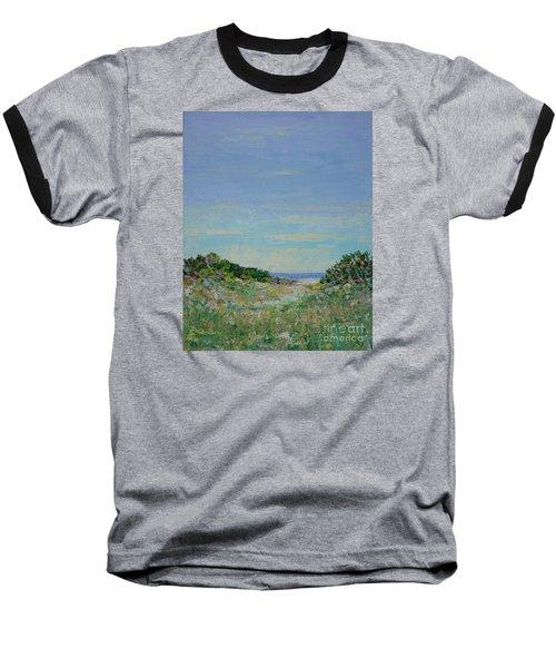 Rainy Day Beach Blues Baseball T-Shirt