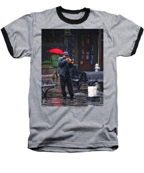 Rainy Day Blues New Orleans Baseball T-Shirt