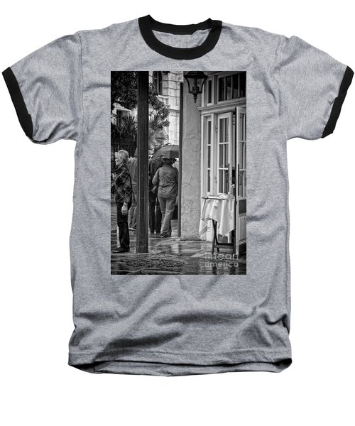 Rainy Day Lunch New Orleans Baseball T-Shirt by Kathleen K Parker