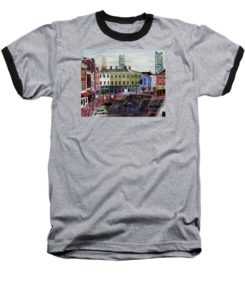 Rainy Day On Market Square Baseball T-Shirt