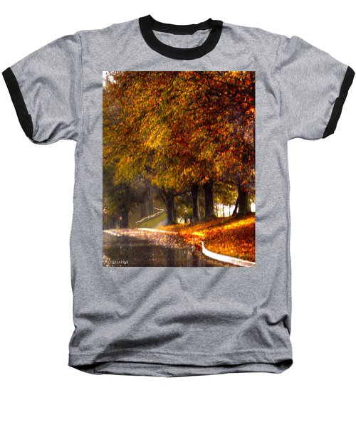 Baseball T-Shirt featuring the photograph Rainy Day Path by Lesa Fine