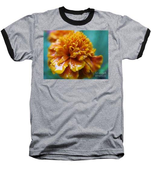 Rainy Marigolds Baseball T-Shirt