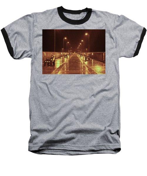 Rainy Night On The Pier Baseball T-Shirt