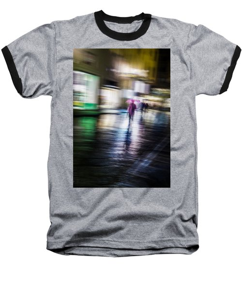 Baseball T-Shirt featuring the photograph Rainy Streets by Alex Lapidus