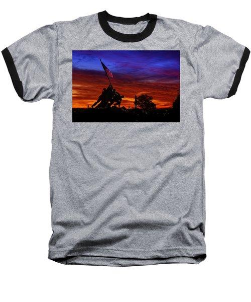 Raising The Flag Baseball T-Shirt